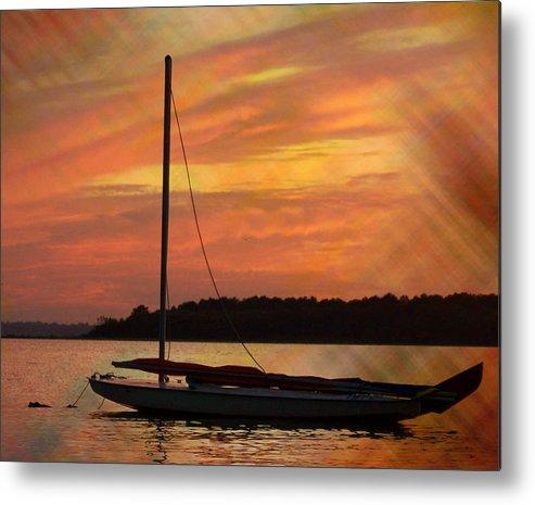 Sailboat Metal Print featuring the photograph Sailin' On Dewey by Trish Tritz