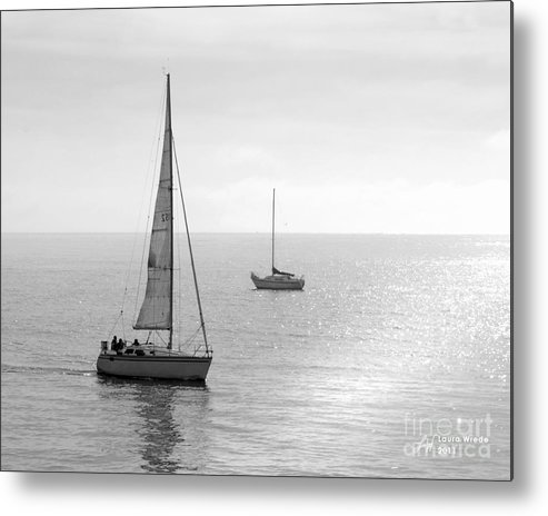 Sailing Metal Print featuring the photograph Sailing In Calm Waters by Artist and Photographer Laura Wrede