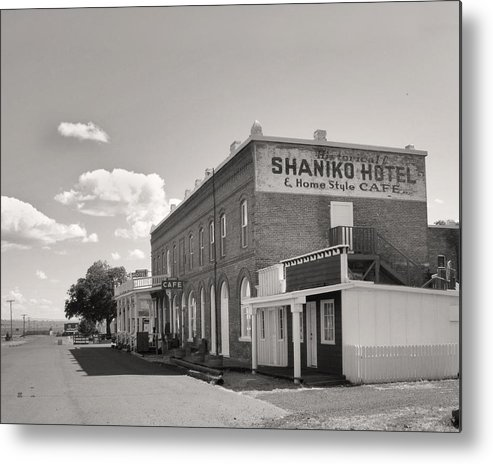 Landscape Metal Print featuring the photograph Shaniko Hotel by Mel Felix