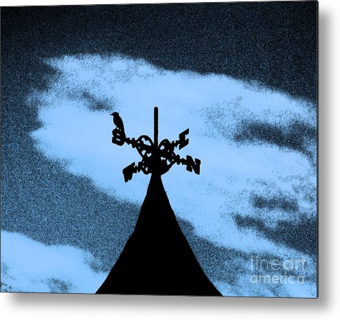 Wind Vane Metal Print featuring the photograph Spooky Silhouette by Al Powell Photography USA