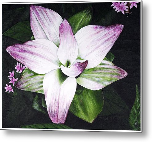 Flower Metal Print featuring the painting Spring Surprise by Carol Messman Steele