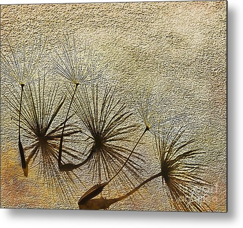 Nature Metal Print featuring the digital art Three Wishes by Artist and Photographer Laura Wrede