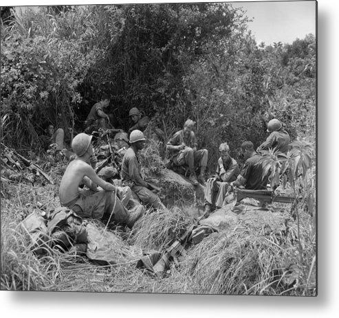 Vietnam War  Soldiers Of The 101st Metal Print