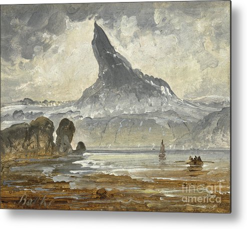 Peder Balke (hedemarken Metal Print featuring the painting Mount Stetind by Celestial Images
