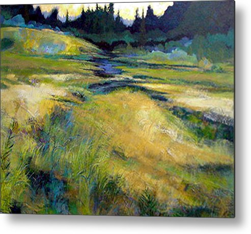 Landscape Metal Print featuring the painting Water Source by Dale Witherow