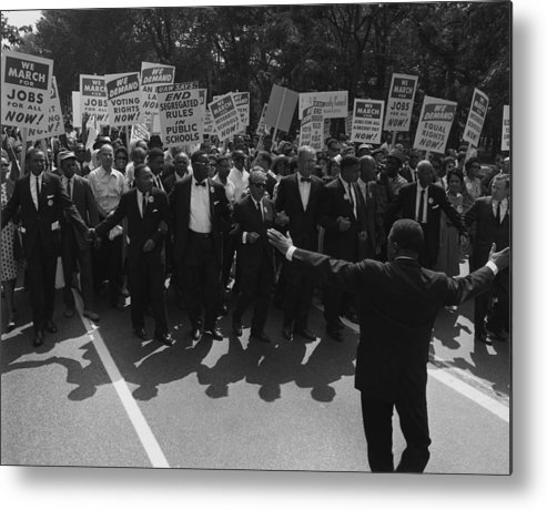 History Metal Print featuring the photograph 1963 March On Washington. Famous Civil by Everett