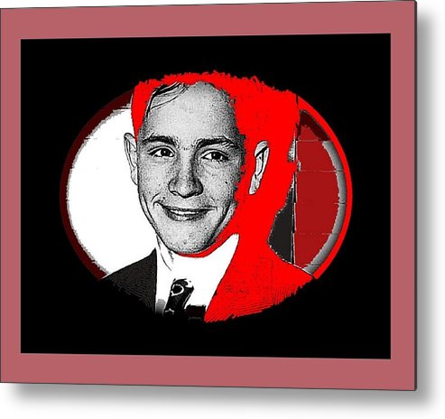 Future Charismatic Cult Leader Charles Manson As A Young Man No Location Or Date - 2009 Metal Print featuring the photograph Future Charismatic Cult Leader Charles Manson As A Young Man No Location Or Date - 2009 by David Lee Guss