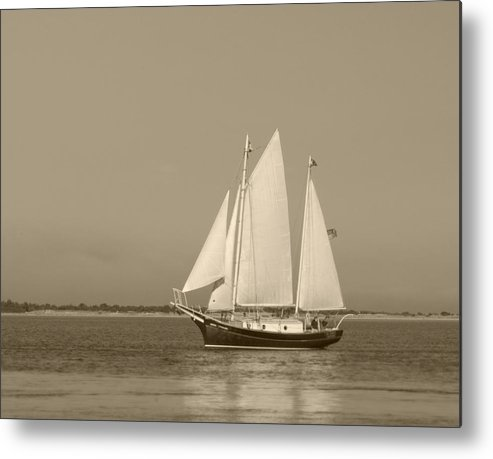 Ketch Metal Print featuring the photograph Ketch - Nantucket Harbor by Henry Krauzyk