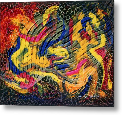 Abstract Metal Print featuring the painting Le Filtre De La Pensee by Dominique Boutaud