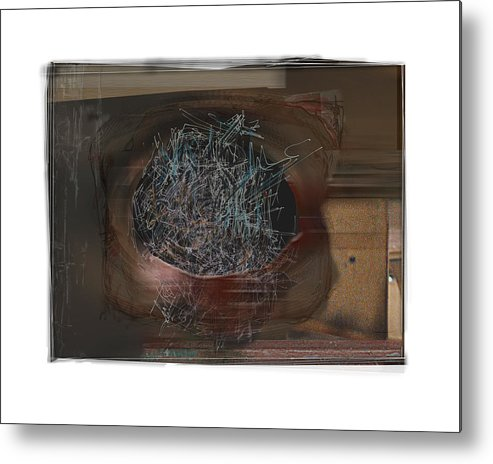 Still Life Metal Print featuring the digital art Let It Out by Nuff