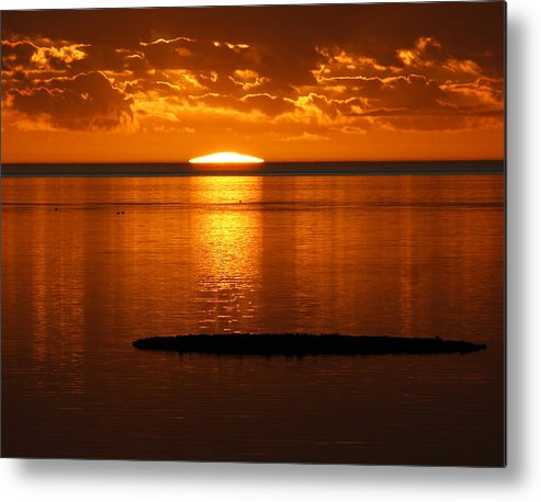 Sunset Metal Print featuring the photograph Looking For The Green Flash by Debbie May