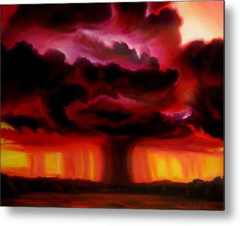 Skyscape Metal Print featuring the painting Microburst by James Christopher Hill