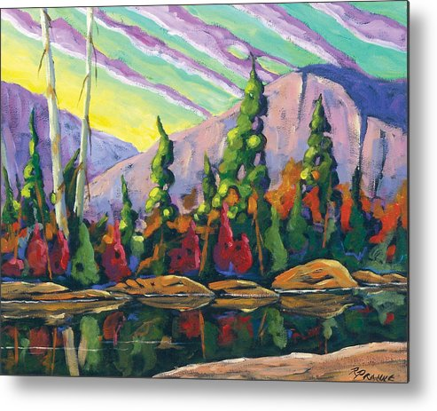Art Metal Print featuring the painting Nature Expression by Richard T Pranke