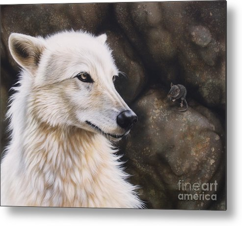 Acrylic Metal Print featuring the painting The Mouse by Sandi Baker