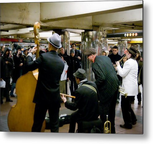 New York Metal Print featuring the photograph New York City Subway by Patrick Flynn