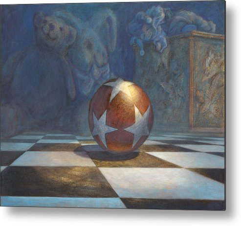 Leonard Filgate Metal Print featuring the painting The Ball by Leonard Filgate