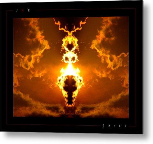 Fire Metal Print featuring the photograph 22-11 by Jonathan Ellis Keys