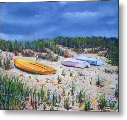 Cape Cod Metal Print featuring the painting 3 Boats by Paul Walsh