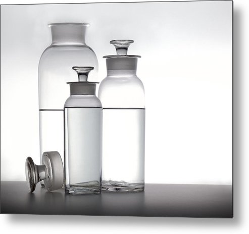 Water Metal Print featuring the photograph 3 Jars by Mark Wagoner