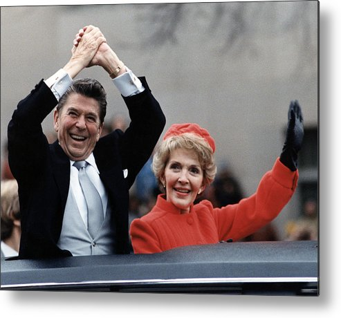 1980s Metal Print featuring the photograph President Ronald Reagan And First Lady by Everett