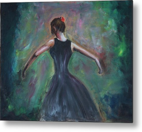 Dance Metal Print featuring the painting The Dancer by Taly Bar
