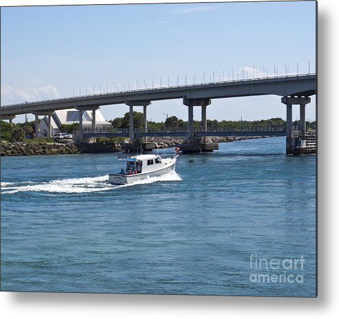 Florida Metal Print featuring the photograph Sebastian Inlet State Park In Florida by Allan Hughes