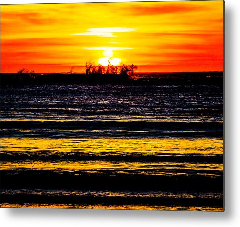 Metal Print featuring the photograph Sunset Bay Beach by Angus Hooper Iii