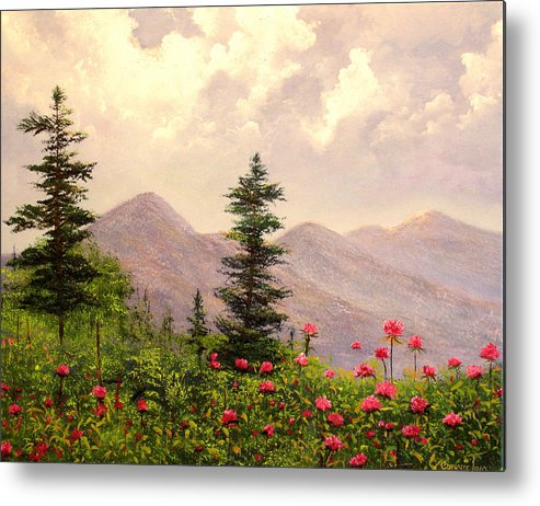 Connie Tom Metal Print featuring the painting A Breath Of Fresh Country Air by Connie Tom