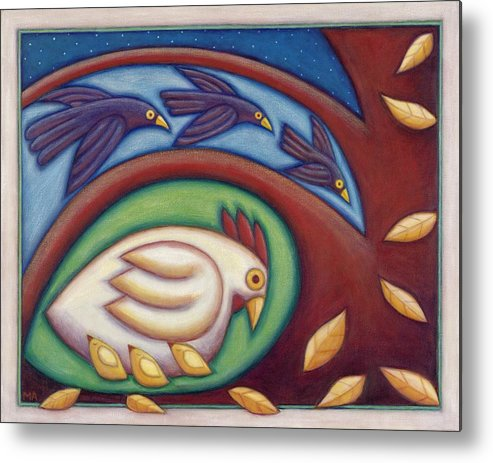Animal Metal Print featuring the painting A Mothers Touch by Mary Anne Nagy