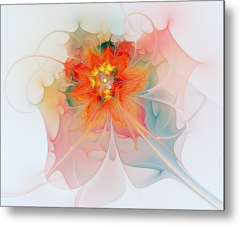 Digital Art Metal Print featuring the digital art A Touch Of Spring by Amanda Moore