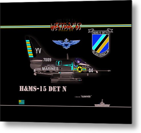 Naval Aviation Metal Print featuring the digital art A4-c Skyhawk Vsf by Mike Ray
