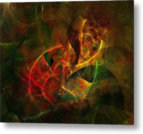 Fine Art Metal Print featuring the digital art Abstract 051011 by David Lane