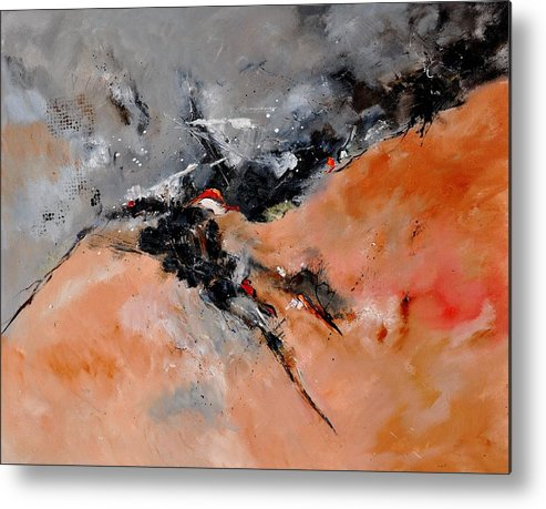 Abstract Metal Print featuring the painting Abstract 1811503 by Pol Ledent