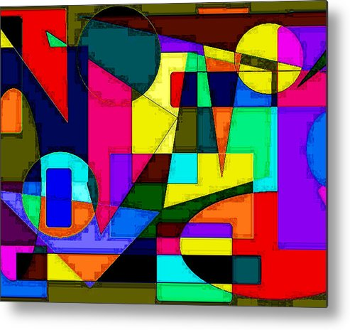 Abstract Digital Art Metal Print featuring the digital art Abstract 2 by Timothy Bulone
