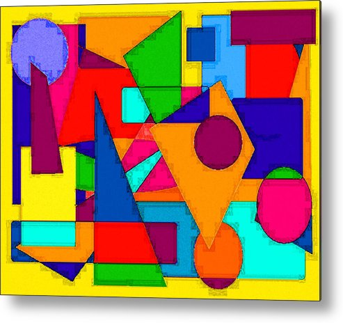 Abstract Digital Art Metal Print featuring the digital art Abstract 3c by Timothy Bulone