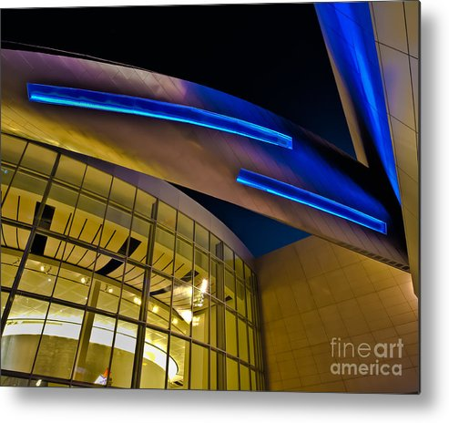 Architecture Metal Print featuring the photograph Aero Push by Brian Tye