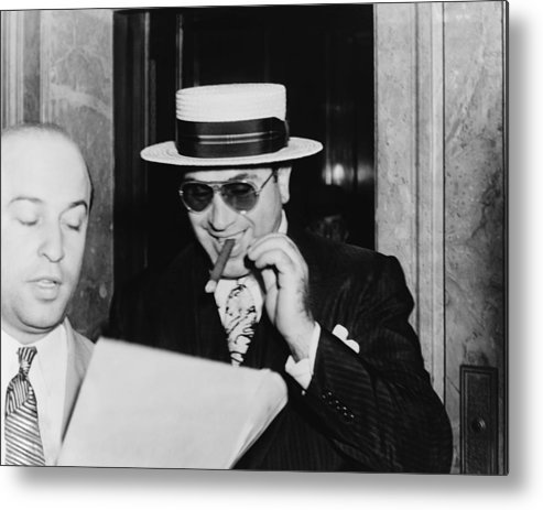 History Metal Print featuring the photograph Al Capone, With A Cigar And A Big by Everett