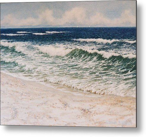 Seascape Metal Print featuring the painting Alabama Coast by Steven Welch