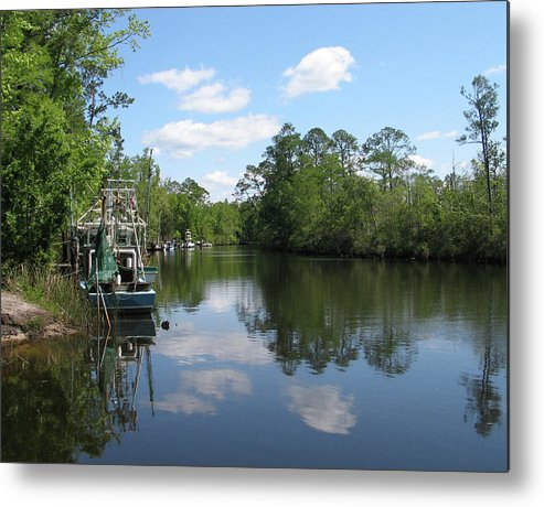 Photography Metal Print featuring the photograph Alaqua Creek by Lori Ceier