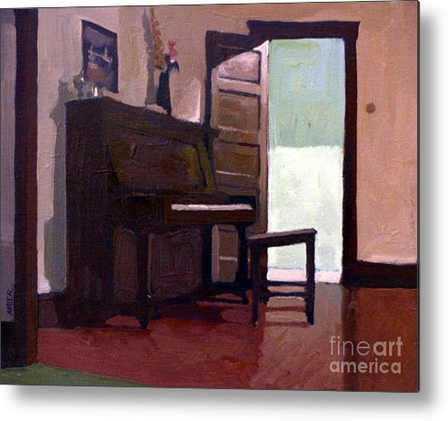 Piano Metal Print featuring the painting Allison's Piano by Donald Maier