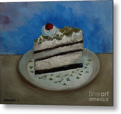 Almond Metal Print featuring the painting Almond Cake by Kostas Koutsoukanidis