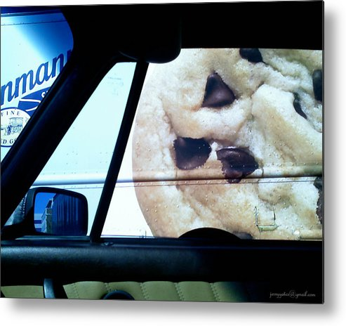 Chocolate Chip Cookie Metal Print featuring the photograph Along Side The Cookie Truck by Gerard Yates