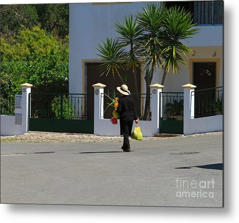 Woman Metal Print featuring the photograph Alte Portugal by Louise Heusinkveld