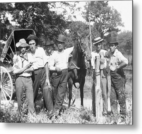 1900 Metal Print featuring the photograph American Gang, C1900 by Granger