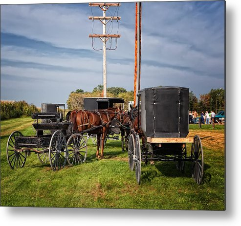 Amish Metal Print featuring the photograph Amish At The Auction by Al Mueller