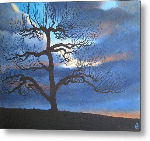 Apple Tree Metal Print featuring the painting Apple Tree by Oksana Zotkina