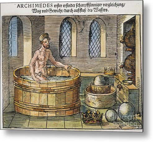 3rd Century B.c. Metal Print featuring the photograph Archimedes by Granger