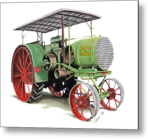 Tractor Metal Print featuring the painting Aultman And Taylor Tractor by Ferrel Cordle