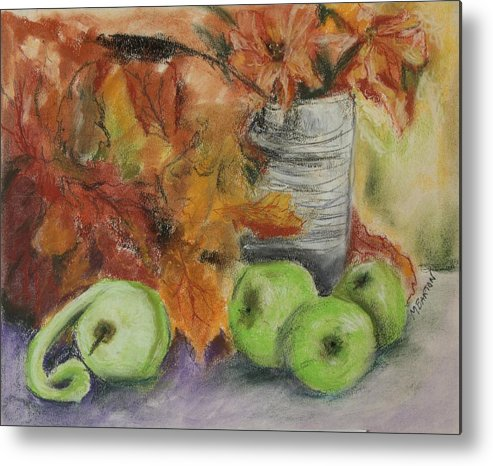 Autumn Colors Metal Print featuring the painting Autumn Still Life by Marilyn Barton