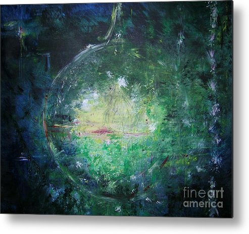 Abstract Metal Print featuring the painting Awakening Abstract II by Lizzy Forrester